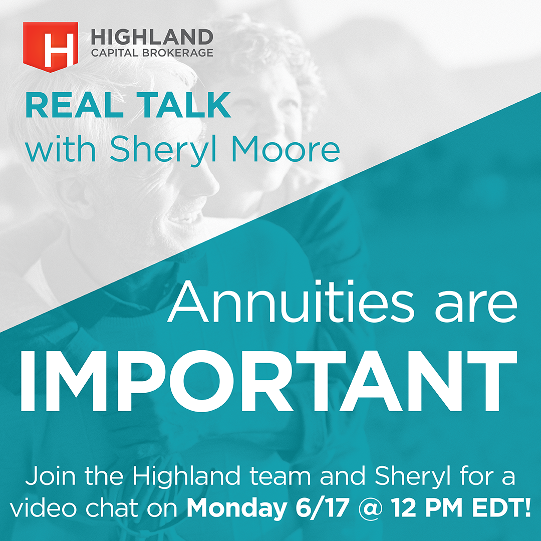 Annuities are Important! Join us on Monday, June 17 for an in-depth discussion about WHY your clients need annuities with special guest, Sheryl Moore.